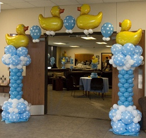 Baby shower party planning los angeles baby shower party for Baby shower balloons decoration