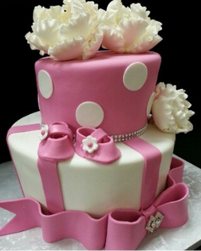 pin photo of girl baby shower cake on pinterest