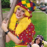 pretty female clown performers