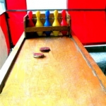 carnival booth bowling game