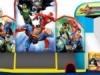 super hero bouncer with slides