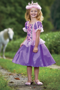 Girl's Rapunzel Dresses, Slippers, & Crowns