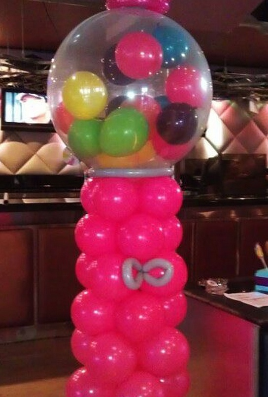 gumball machine balloon decorations celebrity party planner
