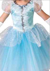 Ice.Blue Princess Dress-front