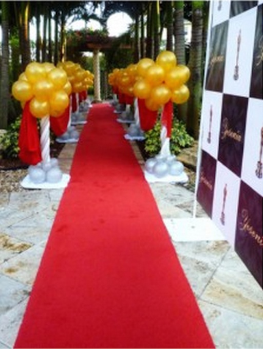 Red Carpet Arrival Balloon Decorations Celebrity Party
