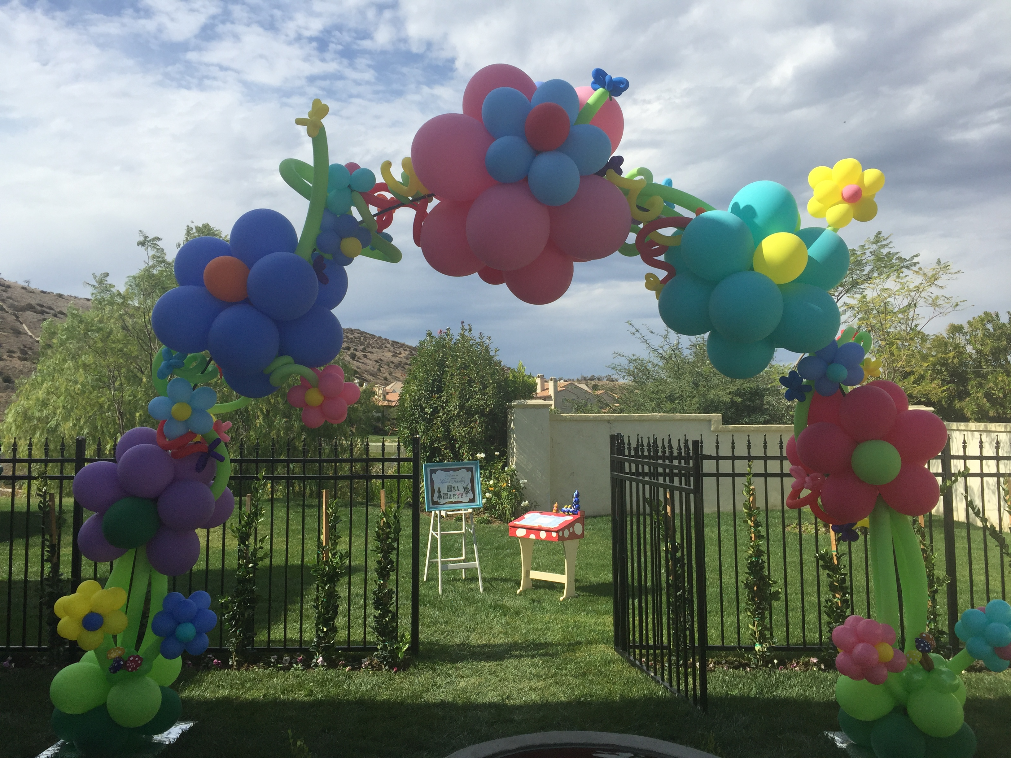 Balloon decorations party balloon decorations themed for Balloon decoration los angeles